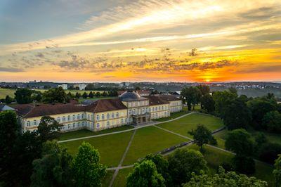 Luftbild Schloss Hohenheim